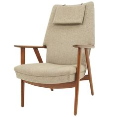 Check out the deal on Danish Modern Teak Framed Lounge Chair at Eco First Art