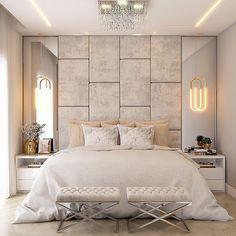 Hotel Bedroom Design, Master Bedroom Interior, Modern Master Bedroom, Gold Bedroom, Home Room Design, Bedroom Decor, Bedroom Shelves, Bedroom Signs, Bedroom Ideas