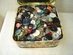 The button box that never had a button to match the one you'd lost. This was the law of the button box. 1970s Childhood, My Childhood Memories, Sweet Memories, Nostalgia, I Remember When, My Memory, The Good Old Days, Retro, Vintage Items