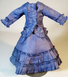 Sweet French Fashion Skirt & Jacket Dress for your Antique Fashion Doll