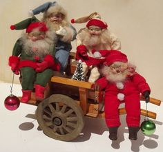 One Elf~Two Elf~Red Elf~Blue Elf....Handmade Santa Elves By Kim Sweet~Kim's Klaus