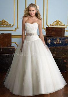 Taffeta Ball Gown Zipper up Floor Length Sleeveless Sweetheart Wedding Dress