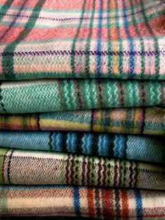 Vintage 1950's woolen blankets (seen at Wells Antiques Fair).