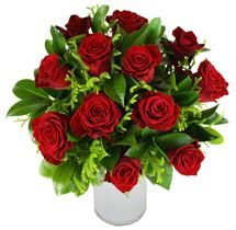 Classic and elegant, 12 stems of #redroses with pretty foliage from http://www.flyingflowers.co.nz/red-rose-bouquet