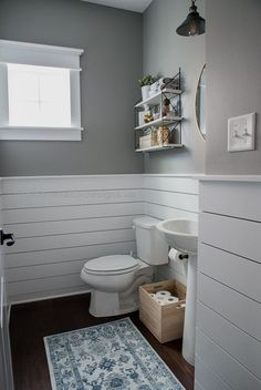 Check out this beautiful powder room reveal! This tiny bathroom was transformed …  Check out this beautiful powder room reveal! This tiny bathroom was transformed from boring to fresh and modern! I love the shiplap and the modern ..  http://www.coolhomedecordesigns.us/2017/06/13/check-out-this-beautiful-powder-room-reveal-this-tiny-bathroom-was-transformed/