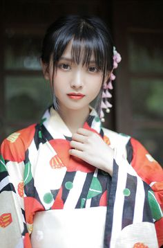 Pictured in her kimono for Tanabata. The Effective Pictures We Offer You About Kimono tuto A quality picture can tell you many things. You can find the most beautiful pictures that Beautiful Japanese Girl, Japanese Beauty, Beautiful Person, Beautiful Asian Girls, Asian Beauty, Yukata, Cute Asian Girls, Cute Girls, Japonese Girl
