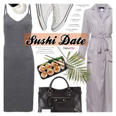 """Sushi Date // lovenewchic"" by noviii ❤ liked on Polyvore featuring Balenciaga, Versace and Bobbi Brown Cosmetics"