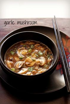 garlic mushroom recipe with step by step photos. simple yet delicious chinese recipe of garlic mushrooms. both mushrooms and garlic make a good combination Turkey Recipes, Soup Recipes, Vegetarian Recipes, Chinese Vegetables, Mixed Vegetables, Chinese Cabbage, Chinese Food, Chinese Style, Chinese Recipes