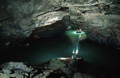 Il fiume Timavo nella Grotta Meravigliosa Lazzaro Jerko (Foto Umberto Tognolli, Archivio Cgeb)