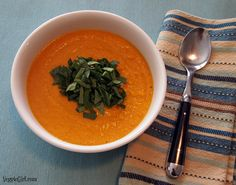 Curried Carrot Soup #MeatlessMonday