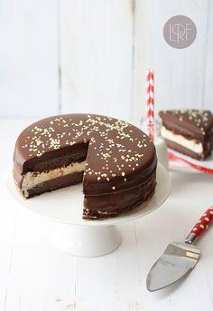 #Receta Tarta helada de chocolate y vainilla