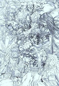Comic Book Artists, Comic Artist, Comic Books Art, Marvel Fanart, Marvel Comics, Jim Lee Art, Comic Pictures, Comic Pics, Comic Drawing
