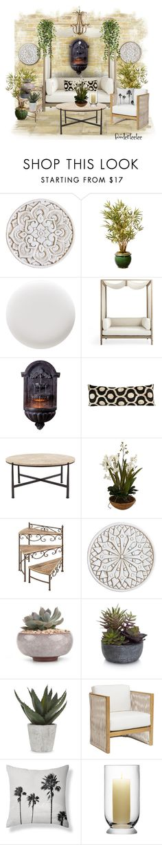 """Outdoors"" by fowlerteetee ❤ liked on Polyvore featuring interior, interiors, interior design, home, home decor, interior decorating, Deborah Lippmann, Elements, Abigail Ahern and Palecek"