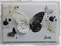 20150530_091037 Butterfly Wedding, Butterfly Cards, Stampin Up Karten, Stampin Up Cards, Punch Art Cards, Old Cards, Ways To Recycle, Digi Stamps, Kirigami