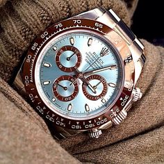 Rolex Oyster Perpetual Cosmograph Daytona Platinum - Chubster's choice Men's Watches - Watches for Men ! Dream Watches, Fine Watches, Luxury Watches, Cool Watches, Rolex Watches, Watches For Men, Diamond Watches, Rolex Oyster Perpetual, Oyster Perpetual Cosmograph Daytona