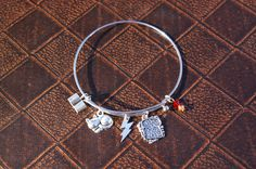 The Golden Trio Bangle Bracelet - Inspired by Harry, Ron and Hermione by MomandPopNerdShoppe on Etsy