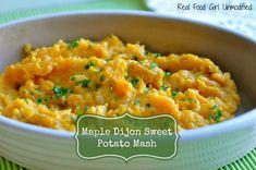 Maple Dijon Sweet Potato Mash by Real Food Girl Unmodified