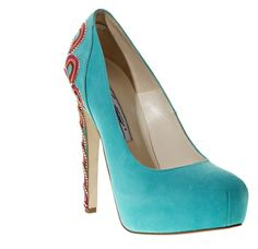 Gorgeous. Claudia pump in turquoise by Brian Atwood. Only $2,114.00 at Bergdorf Goodman.