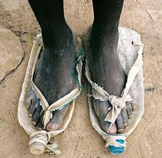 Every time you feel like whining because you can't get those beautiful shoes...Look at this picture!
