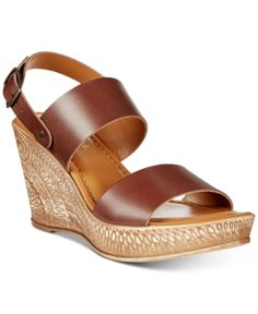 dae77377577 Bella Vita Cor-Italy Wedge Sandals - Brown 8.5WW