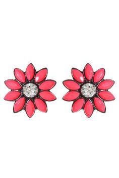 Amrita Singh - Holi Floral Studs in Pink
