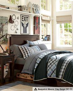 baskets under the bed Boys Room Decorating Ideas & Harrison Hampton Bedroom   PBteen
