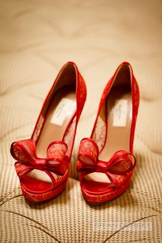 Why not add a bit of color to your dress with a popping red pair valentino shoes!