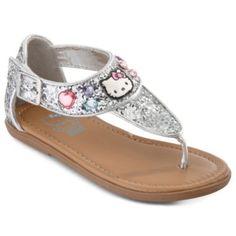 Hello Kitty® Sally Toddler Girls Glitter Sandals