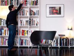 let's do our cubitec shelving like this! it will go on the long wall in the livingroom - across from all the windows.
