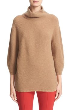 Free shipping and returns on Max Mara 'Ovale' Wool & Cashmere Sweater at Nordstrom.com. An incredibly soft wool-and-cashmere sweater features a slouchy, face-framing funnel neck and three-quarter blouson sleeves gathered at slender rib-knit cuffs.