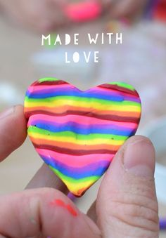 Pretty Rainbows made with Sculpey, what a great craft idea for kids -- and perfect for Valentine's Day!