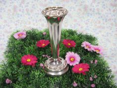 Silver Plated Vase - Small Flower Vase - Silver Posy Vase - Silver Bud Vase - Ianthe Vase - Antique Silverware - English Silverware by MissieMooVintageRoom on Etsy
