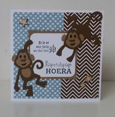 Moostly Cards & Crochet: Aapjes #1