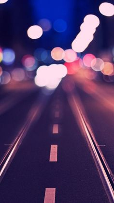 Tram Rail Track Road Bokeh iPhone 6 Wallpaper