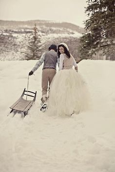 beautiful scenery for a winter wedding photo