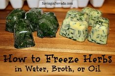 How to Freeze Herbs in Water, Broth, or Oil