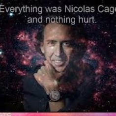 everything was nicolas cage and nothing hurt.