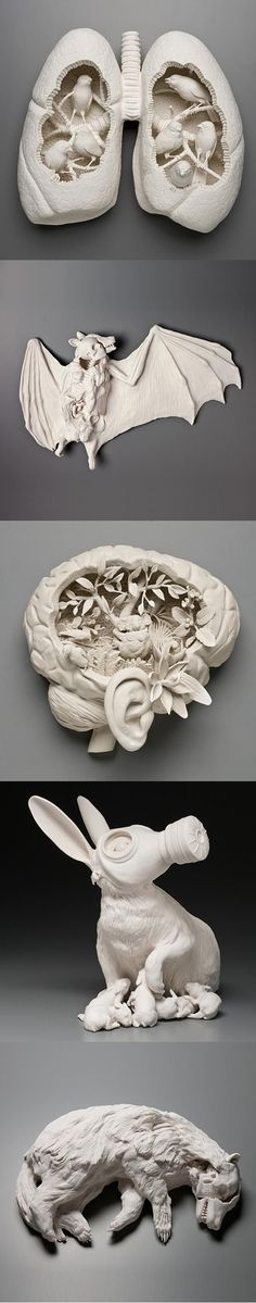 Porcelain Sculptures by Kate MacDowell: Porcelain Sculptures by Kate MacDowell