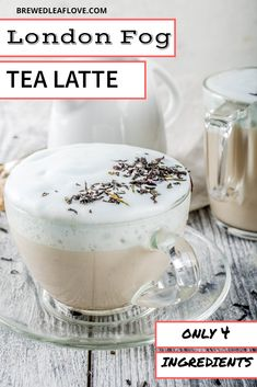 This London Fog Tea Latte recipe is even better than the one at Starbucks. This post shows you how to make a delicious earl grey tea latte with a super secret ingredient so it tastes just like the real thing. Milk Tea Recipes, Coffee Recipes, Hot Milk Tea Recipe, Yummy Drinks, Yummy Food, Tea Drinks, Healthy Drinks, Beverages, London Fog Recipe