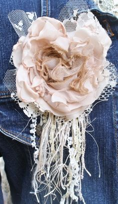 The Polka Dot Closet: Altering a Vintage Slip and Jean Jacket