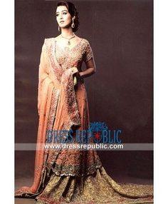 Long Bridal Dress With Flared Lehenga By Designer Rani Emaan