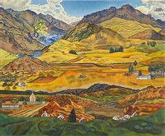 Central Otago - Collections Online - Museum of New Zealand Te Papa Tongarewa. Rita Angus