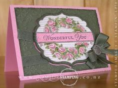Wonderful You Mothers Day Card.  I love the hot pink peeking out from behind the layers...