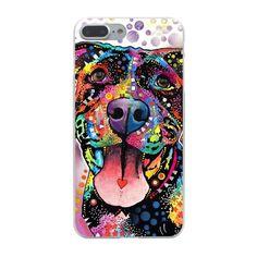 Pitbull Dog Transparent Hard Phone Cover Case for Apple iPhone 7 7 Plus 6 6s Plus 5 5S SE 5C 4 4S