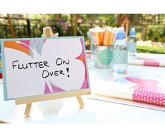 Fluttering Butterfly Theme Table Signs