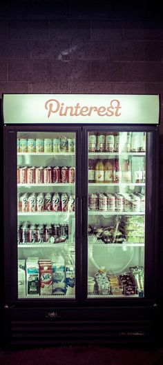 A Day at the Pinterest HQ:  The Pinterest fridge has a ton of tasty things for the employees to come grab any time of the day or night…  - photo from #treyratcliff Trey Ratcliff at http://www.StuckInCustoms.com - all images Creative Commons Noncommercial