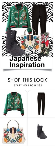 """Japanese Inspiration"" by troentorp ❤ liked on Polyvore featuring Jaeger, Gucci, Troentorp and Stance"