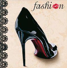 Casa de muñecas en miniatura de Damas Zapatos Stiletto Negro 1:12th Escala