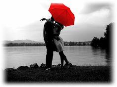 rosso...ombrello...