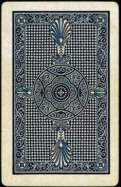 2 of 5. Playing Card back, from Buzz Poole's Playing Cards 2005. more at newhousebooks.tumblr.com